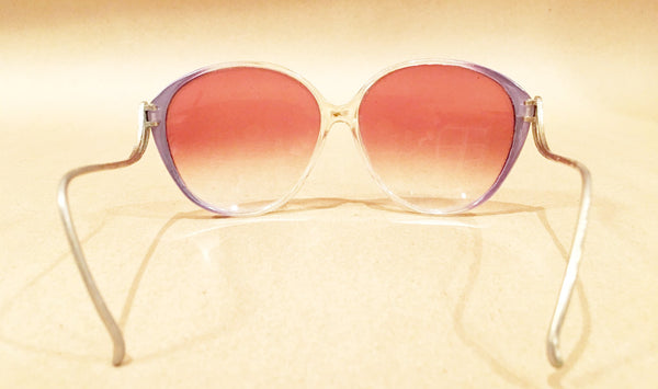 Large Lilac Sunglasses Vintage Accessory