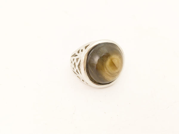 Tiger Eye Cocktail Ring Fashion Costume Jewelry