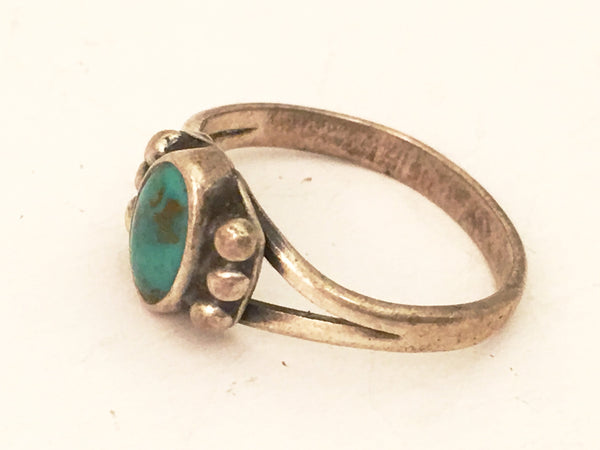 Sterling Silver Turquoise Blue Ring Navajo Vintage Jewelry