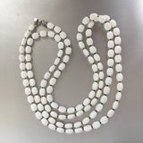 Sarah Coventry White Necklace Vintage Plastic Jewelry