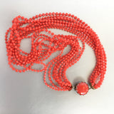 Red Torsade Necklace Vintage Plastic Jewelry