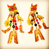 watta vintage jewelry cowboy earrings