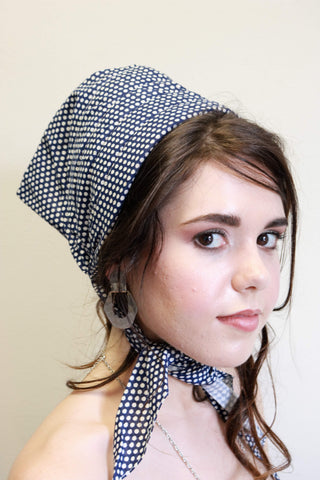 Summer Garden Hat Head Scarf Vintage Accessories