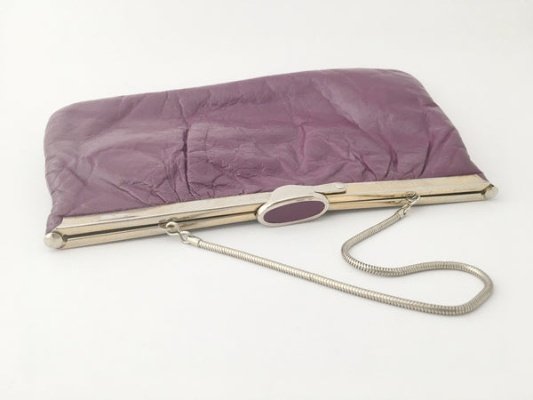 Vintage Purple Bag Ideal Designer Snake Golden Strap Leather Purse