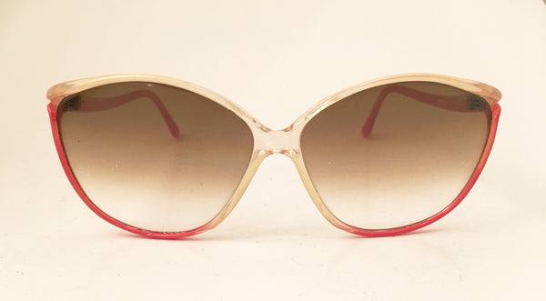 Large  Red Coral Sunglasses Vintage Accessory