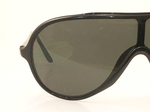Wings Bausch & Lomb Vintage Eyewear Black Aviator Sunglasses