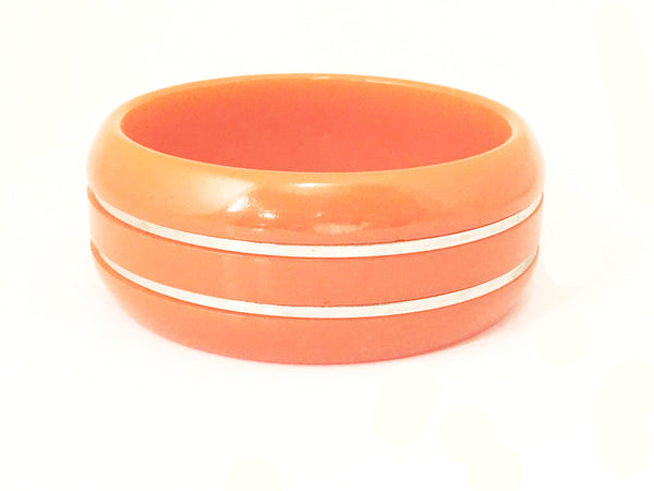 orange bakelite bangle art deco plastic vintage jewelry