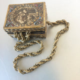 French Rope Chain Necklace Gold Plated Vintage Jewelry