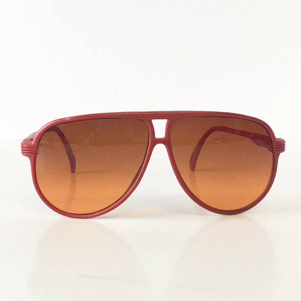 Tasco Red Frame Aviator Sunglasses Vintage Accessories