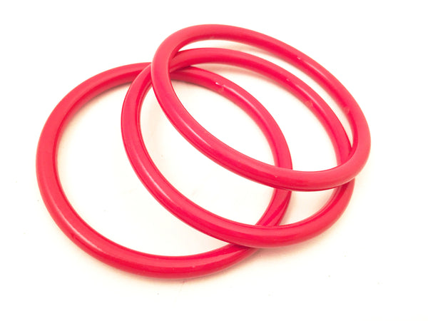 Red bangle bracelet set Vintage Plastic Jewelry