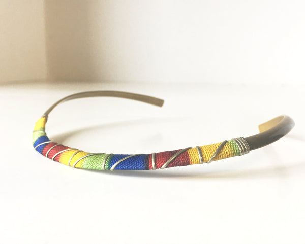 African Tribal Choker Necklace Vintage Handmade Jewelry