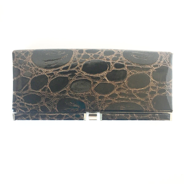 Nine West Brown Bonded Leather Clutch Bag Accessories