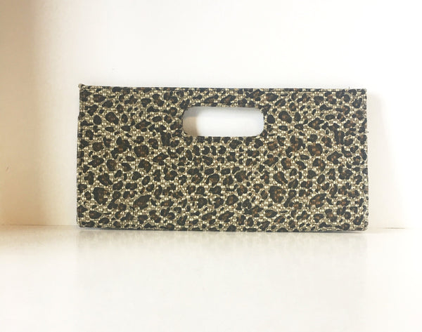 Cheetah Animal Print Clutch Handbag Contemporary Accessories