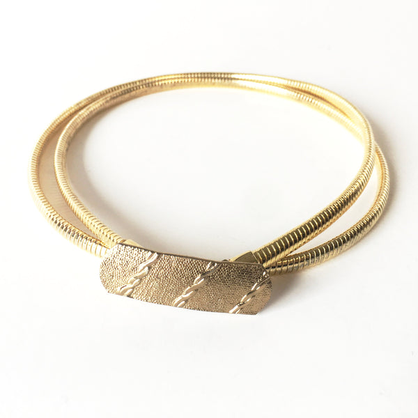 Golden Metal Snake Skinny Belt Vintage Accessories