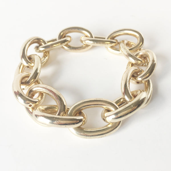 Gold Chain Link Bracelet Vintage Costume Jewelry