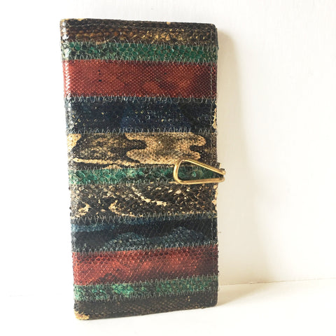 Snake Skin Leather Wallet Wild Animals Vintage Accessories
