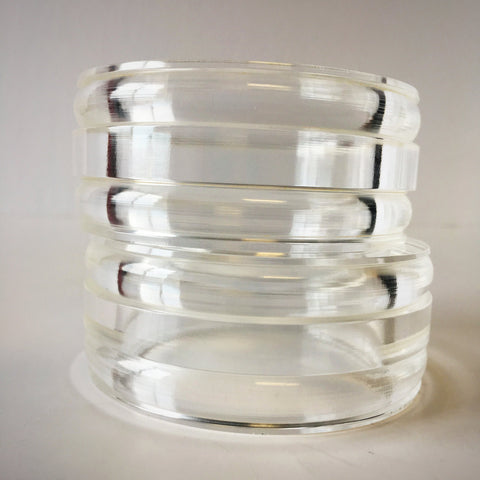 Clear Plastic Bangle Bracelet Contemporary Costume Jewelry
