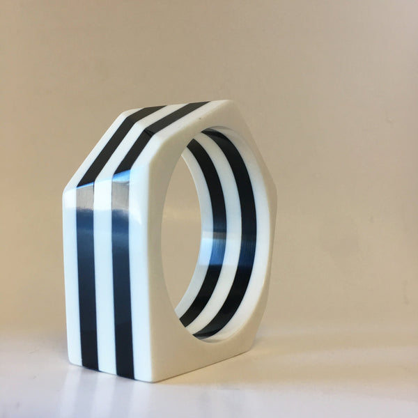 Striped Bangle Bracelet Contemporary Jewelry