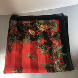 Holidays Deco Musical Instruments Scarf Vintage Accessory