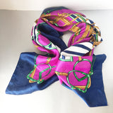 Equestrian Colorful Metallic Scarf Vintage Accessory