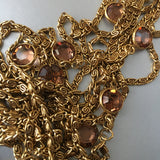 Vintage Signed Goldette N.Y. Multi Chain Swiss Watch Pendant Necklace