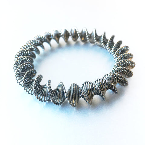 Grunge Accordion Metal Bracelet Vintage Jewelry