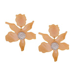 Lele Sadoughi Crystal Lily Flower Earring Contemporary Jewelry Bijoux