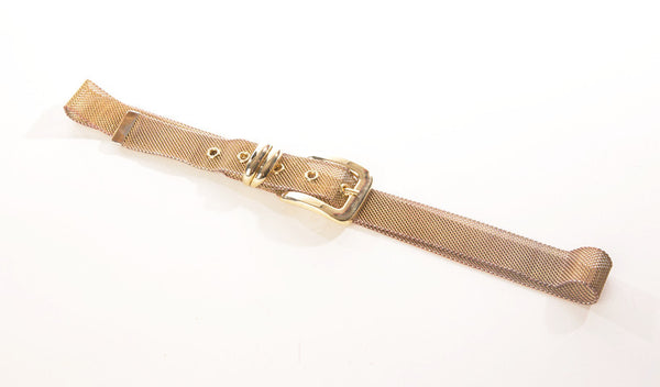 Red Golden Metal Mesh Belt Vintage Accessories