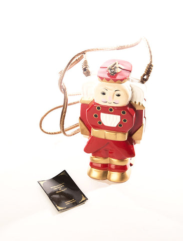 Timmy Woods Nutcracker Red Soldier Christmas Acacia Wood Painted Clutch Cross body Whimsical Handbag Vintage Accessory