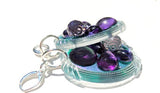 Sugar Gay Isber Purple and Periwinkle Earrings Contemporary Jewelry