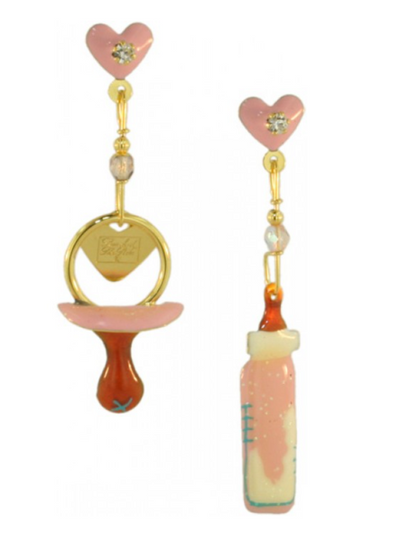 Lunch at the Ritz Earrings Baby Girl Snackle Whimsical Jewelry