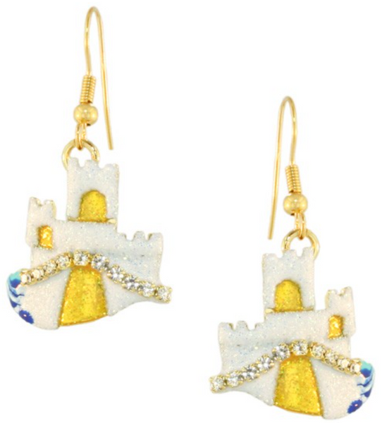 Lunch at the Ritz Earrings Castles in the Sand Whimsical Jewelry