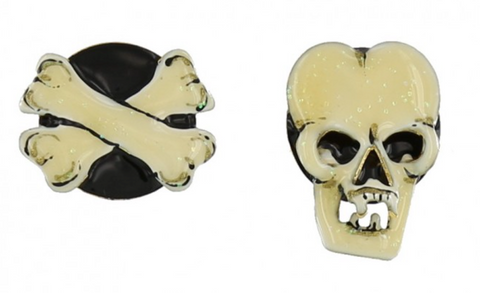 Lunch at the Ritz Pee Wee Roger Skull Earrings Contemporary Jewelry