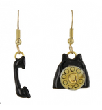 Lunch at the Ritz Dangling Phone Earrings Contemporary Jewelry