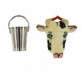 Lunch at the Ritz Split Milk Stud Earrings Contemporary Jewelry