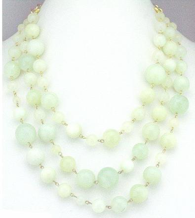 Sugar Gay Isber Green Jade Necklace Contemporary Jewelry