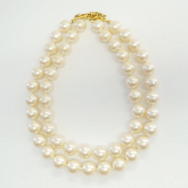Monet Bold Pearls Beaded Necklace Vintage Jewelry