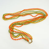 Flapper Long Necklace Vintage Plastic Jewelry