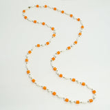 Flapper Long Beaded Necklace Vintage Plastic Jewelry