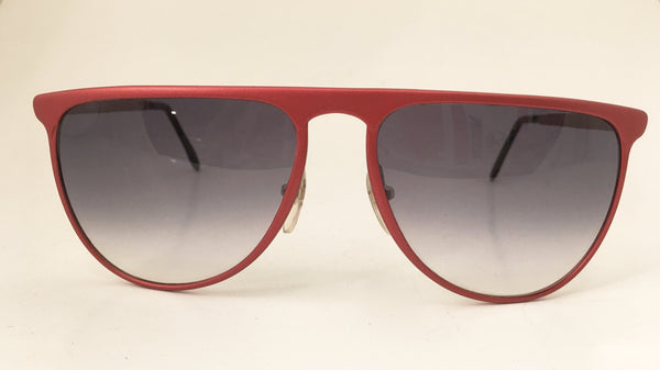 Red Frame Sunglasses Vintage Degrade Lenses Eyewear