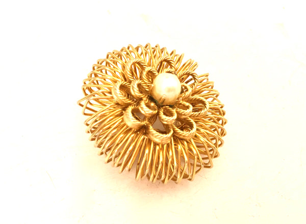 Pearl Pin Brooch Retro Vintage Jewelry