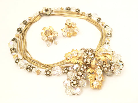 hattie carnegie vintage jewelry demi set