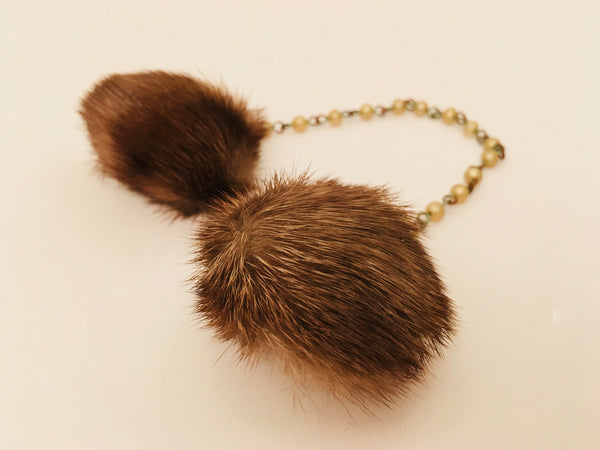 vintage fur sweater clip jewelry
