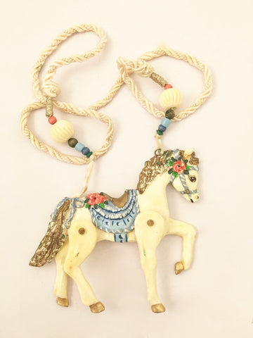 dorian designs necklace horse pendant handmade jewelry 1988