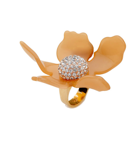 Lele Sadoughi Crystal Lily Ring Contemporary Jewelry Bijoux
