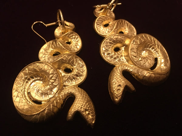 Sugar Gay Isber Jewelry Snake Earrings Figural Contemporary Design
