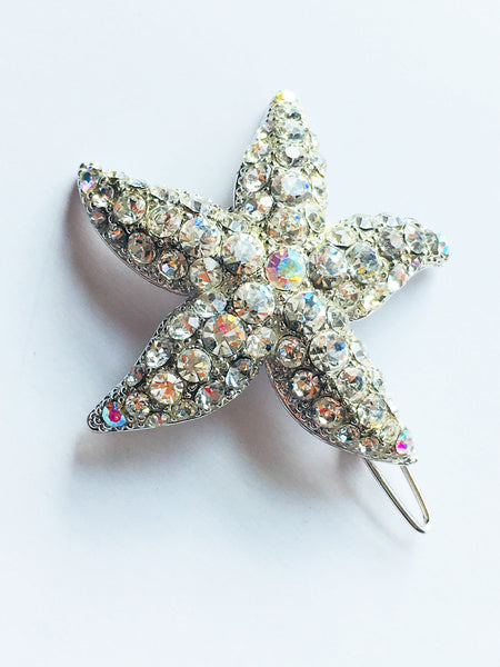 Starfish Figural Sparkling Sea Hair Pin Accessory