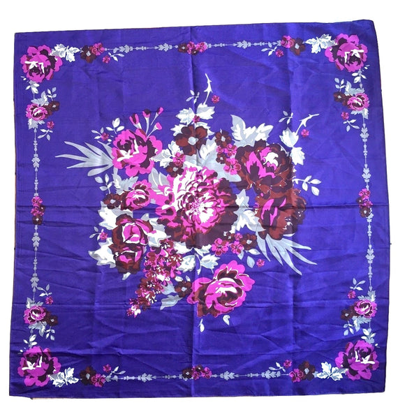 George Floral Scarf Vintage Accessory
