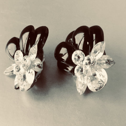 H. Weisz Glamorous Clip on Earrings Vintage Jewelry
