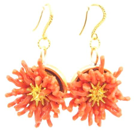 Sugar Gay Isber Vintage Branch Coral Earrings Contemporary Jewelry